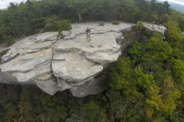 Ever Wonder What It'd Be Like To Fly Off McAfee Knob? This Video is For You.