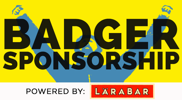 Badger Sponsorship 2015 Powered by LARABAR