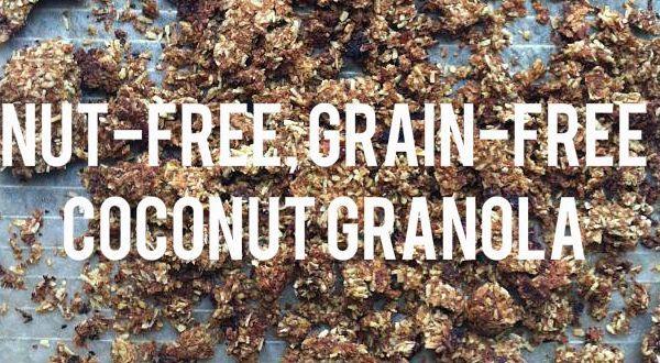 Nut-free, Grain-free Dehydrated Coconut Granola Recipe