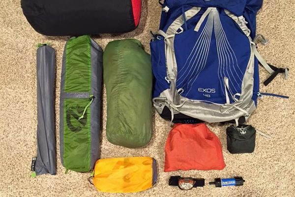 12 lb Base Weight Gear List