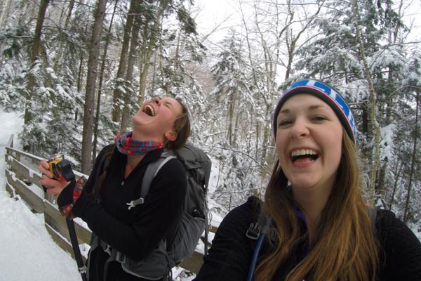 Danielle and Hannah take the trail