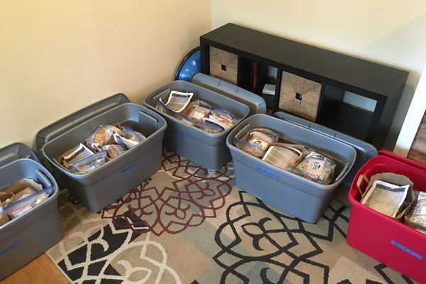 Getting Organized! Homemade Meals and Resupply Boxes
