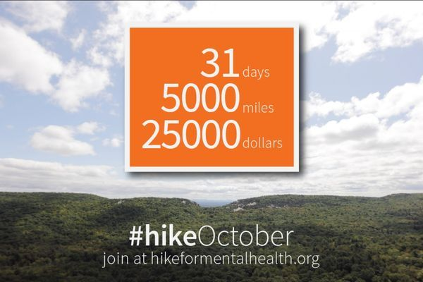 Help HIKE For Mental Health Reach Their 5,000-Mile Goal in October