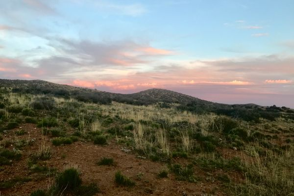 Single Track and Thunder in the Burro Mountains