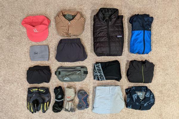 My Appalachian Trail Clothing System