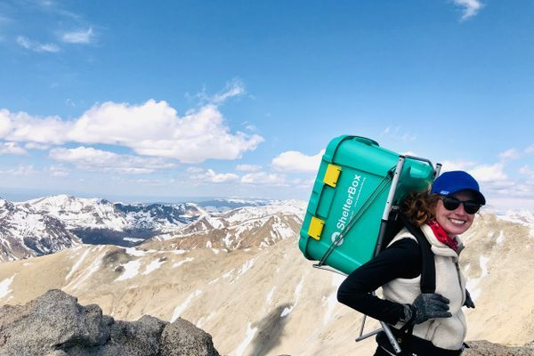 Climbing for a Cause: Brittney Woodrum on her Goal to Summit the Colorado 14ers Carrying a ShelterBox