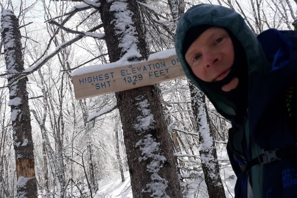 Superior Hiking Trail winter SOBO