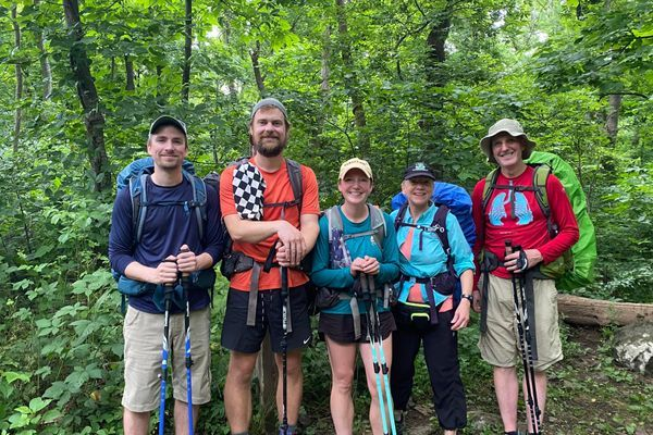 Family backpacking weekend